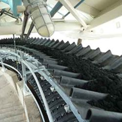 Serpentix model-H conveyor system carrying sludge to the depositing point
