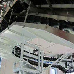 Serpentix Pathwinder FlexEnd conveyor system in wastewater treatment plant.