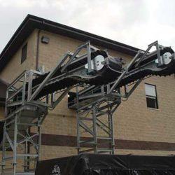 Two Serpentix Pathwinder FlexEnd conveyor systems in wastewater plant