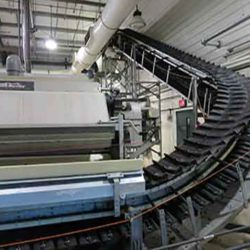 Serpentix Pathwinder conveyor system inside wastewater treatment plant