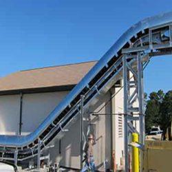 Serpentix Pathwinder conveyor in Wastewater treatment plant